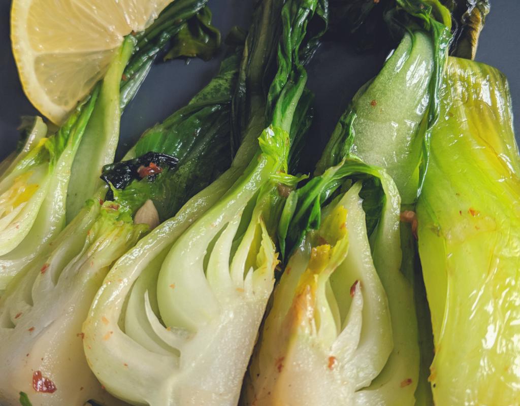 Lemon Garlic Bokchoy Recipe