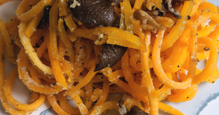 Butternut Squash Noodles | With Black Oyster Mushrooms