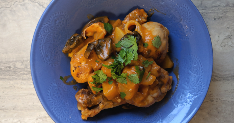 Coconut Chicken Curry With Udon Noodles