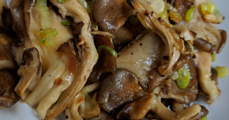 Oyster Mushroom with Garlic Recipe | How To Cook Oyster Mushrooms