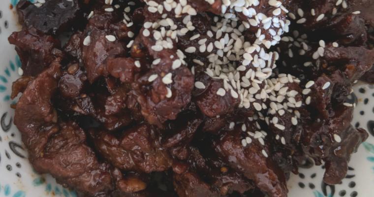 Sticky Honey Garlic Beef Recipe