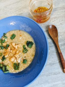 Healty arroz caldo. You must try this if you aren't a big fan of consuming a lot of white rice.