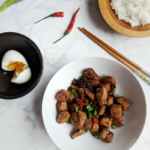 How to make pork adobo with less sauce. Garlicky adobo with boiled egg.