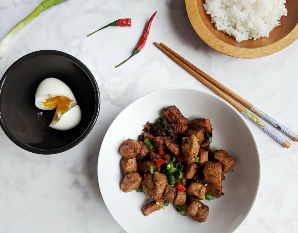 Pork Adobo Recipe | Garlicky (Sauceless) Adobo with Whole Peppercorns