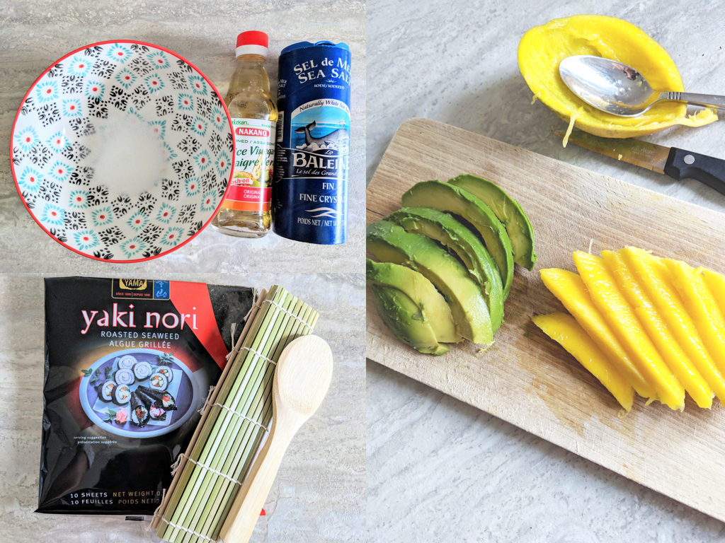 How to make sushi rice. How to make avocado and mango sushi. Easy way to make sushi.