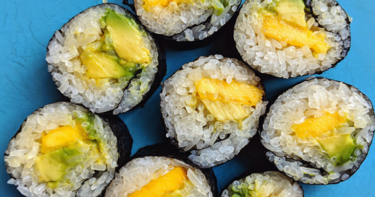 How To Make Sushi Rice | Easy Avocado & Mango Sushi
