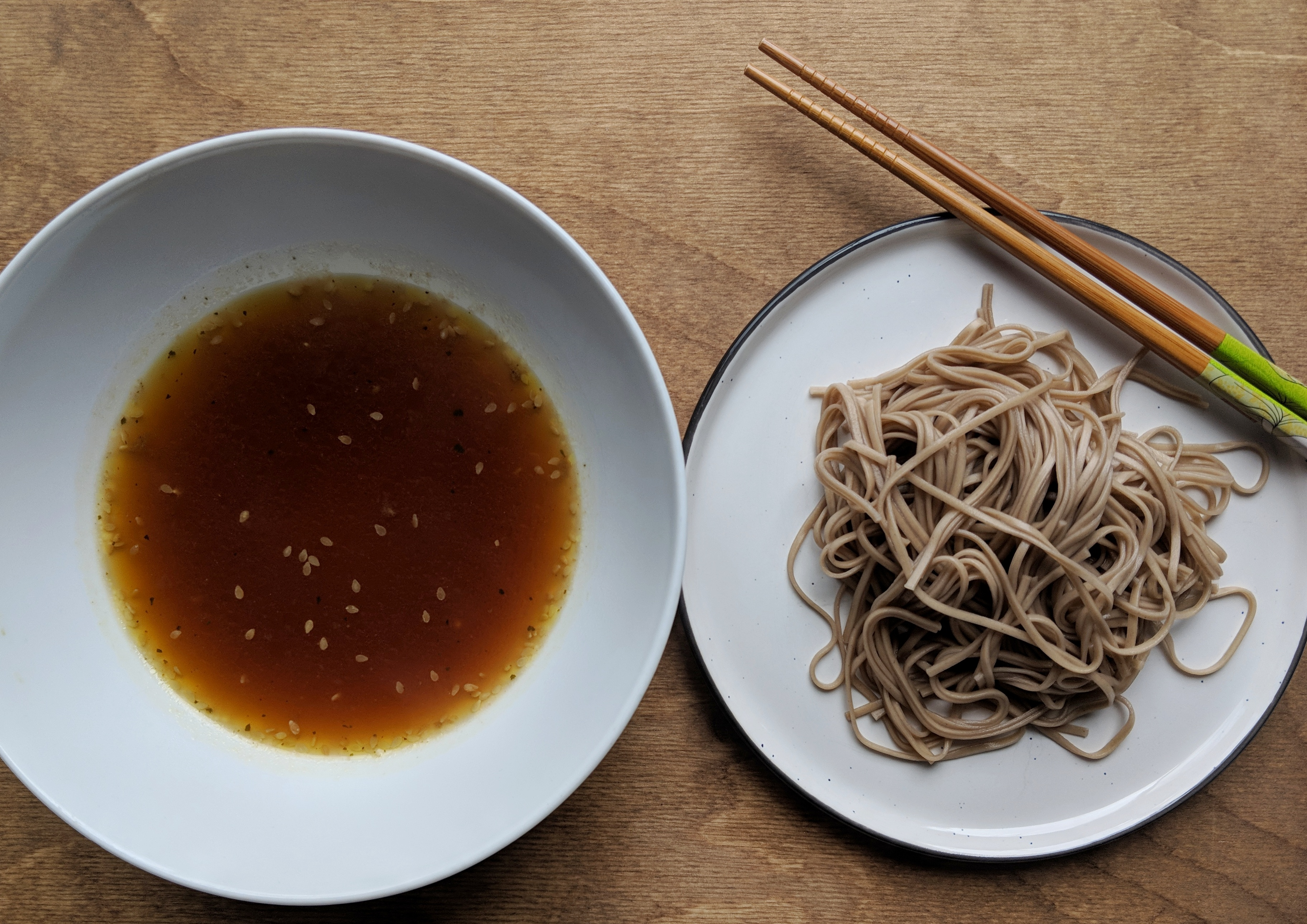 Buckwheat Soba Noodles with Dipping Sauce