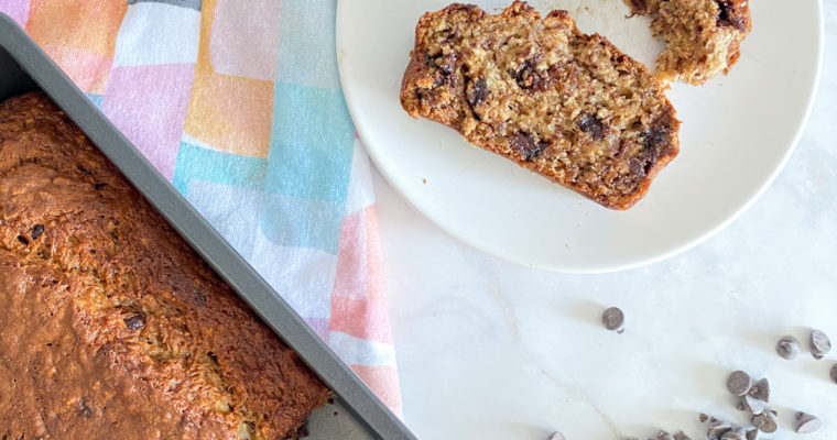 Moist Banana Bread with Optional Chocolate Chips